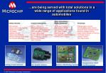 are being served with total solutions in a wide range of applications found in automobiles