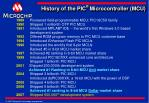 history of the pic microcontroller mcu