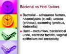 bacterial vs host factors