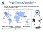 ground segment expansion for improved gps accuracy