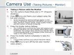 camera use taking pictures monitor