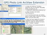 gps photo link arcview extension