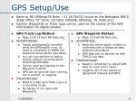 gps setup use