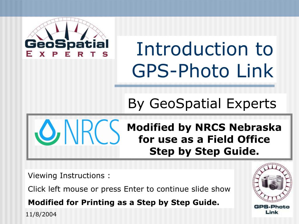 introduction to gps photo link l.