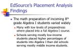 edsource s placement analysis findings