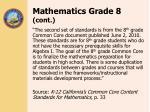 mathematics grade 8 cont