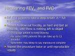measuring fev 1 and fvc