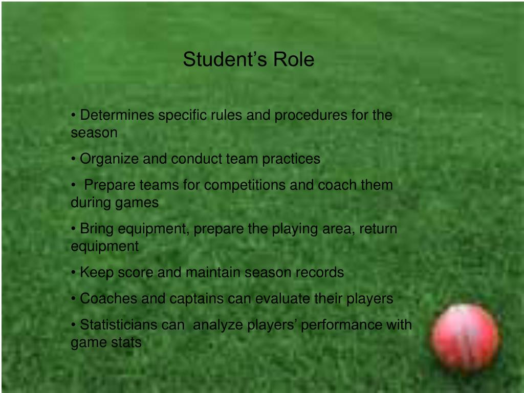 Student's Role