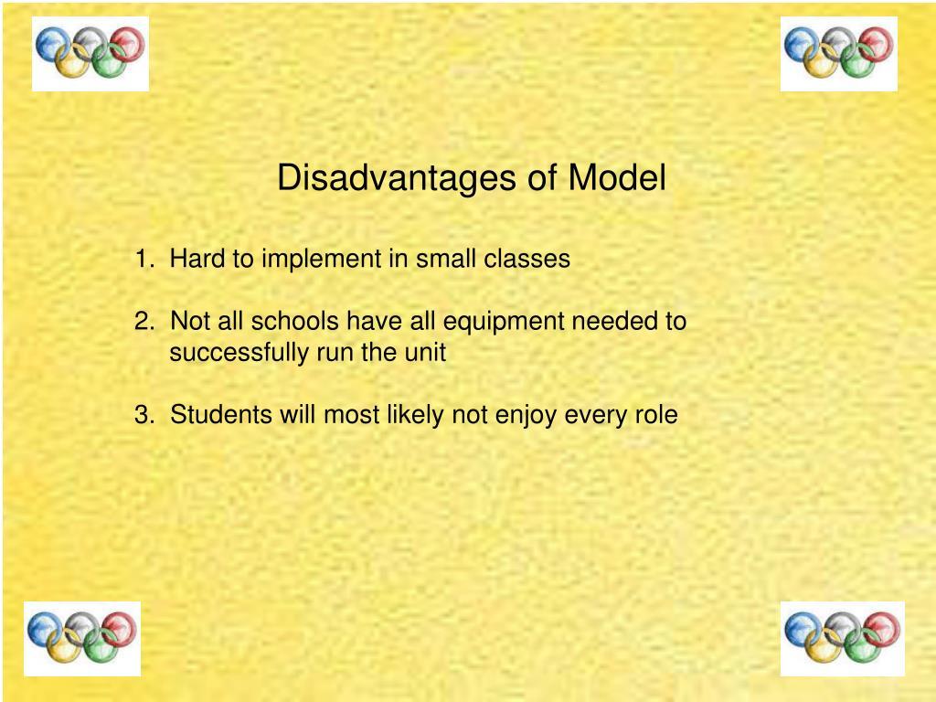 Disadvantages of Model