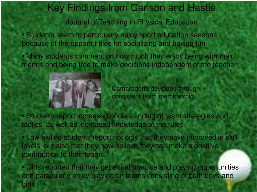 Key Findings from Carlson and Hastie