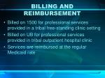 billing and reimbursement