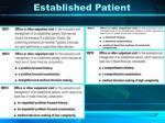 established patient