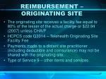 reimbursement originating site