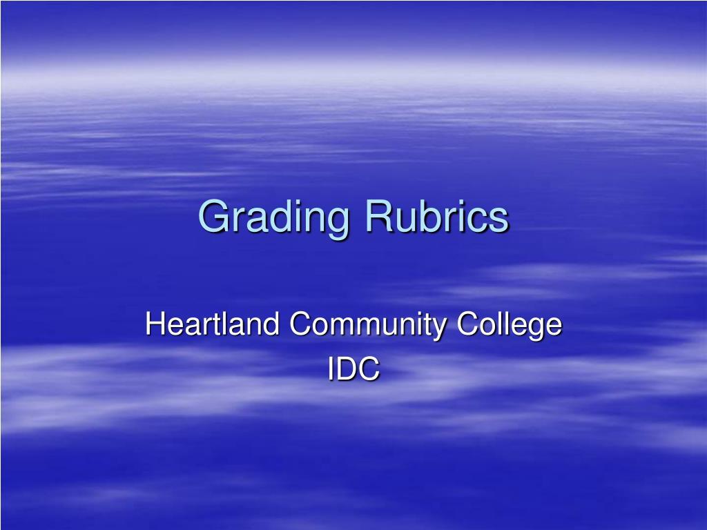 grading rubrics l.