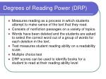 degrees of reading power drp
