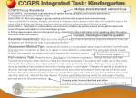 ccgps integrated task kindergarten