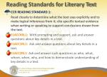 reading standards for literary text
