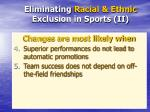 eliminating racial ethnic exclusion in sports ii