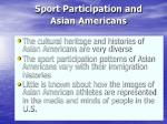 sport participation and asian americans
