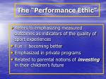 the performance ethic