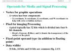 operands for media and signal processing