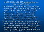 case study canada www tbs sct gc ca and urban institute washington