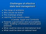challenges of effective state land management