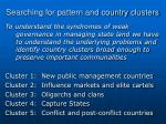 searching for pattern and country clusters