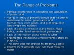 the range of problems