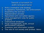 towards a framework for public land governance