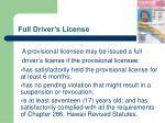 full driver s license