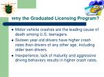 why the graduated licensing program