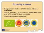 eu quality schemes
