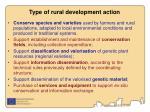 type of rural development action