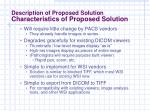 description of proposed solution characteristics of proposed solution15