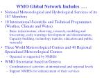 wmo global network includes