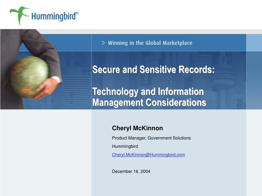 secure and sensitive records technology and information management considerations l.