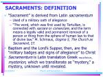 sacraments definition