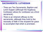 sacraments lutheran
