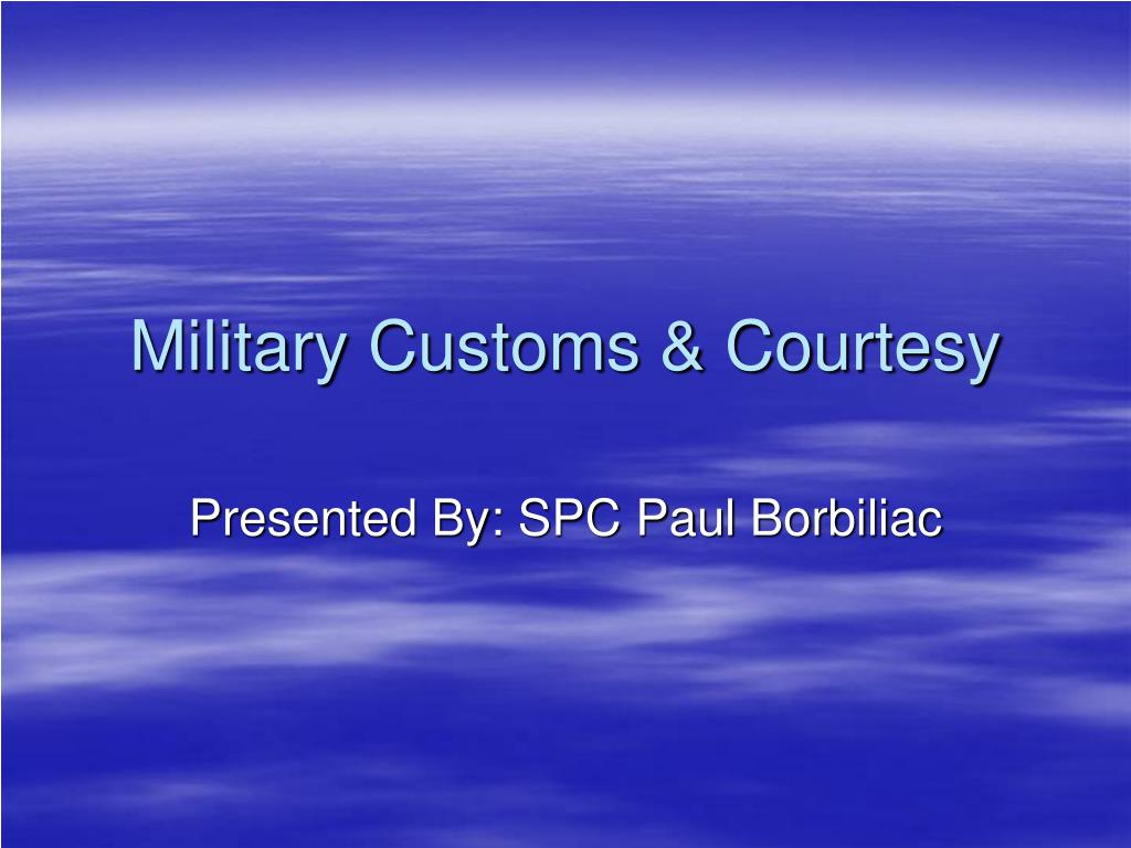 military customs courtesy l.