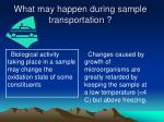 what may happen during sample transportation23