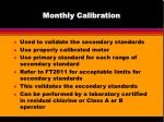 monthly calibration