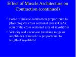 effect of muscle architecture on contraction continued58