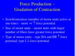 force production gradation of contraction