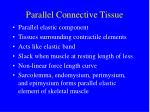 parallel connective tissue