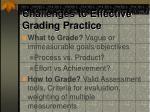 challenges to effective grading practice