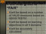 if the final grade is fair