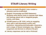 staar literary writing
