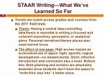 staar writing what we ve learned so far14