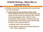 staar writing what we ve learned so far15
